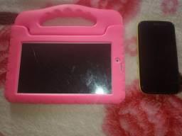 Vendo tablet Multilaser Kiss e celular moto g2