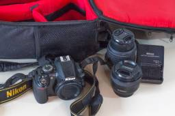 Câmera Kit Profissional Nikon D3100 Dslr Ótima Para Vídeos