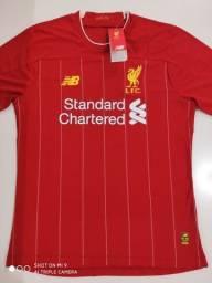 Camisa Liverpool Home - Jogador - New Balance 19/20 - Tamanho: G