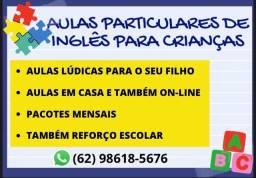AULAS PARTICULARES DE INGLÊS PARA CRIANÇAS