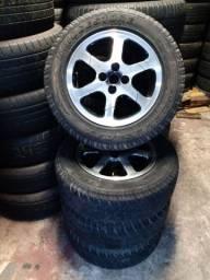 Jogo de roda 15 com pneus semi novo