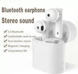 Fone bluetooth verdadeiro sem fio 5.0 estéreo movimento de voz inteligente anti-ruído