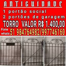 1 PORTÃO SOCIAL E 1 DE GARAGEM ANTIGO
