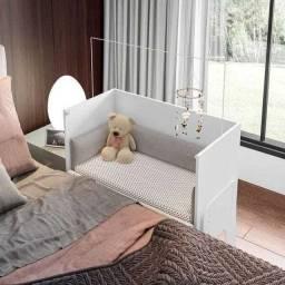 Mini Berço 3 em 1 com colchão e protetor de colchão