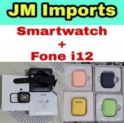 Fone Bluetooth i12 + Smartwatch