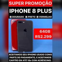 Título do anúncio: iPhone 8 Plus 64 consulta cores