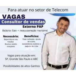 Título do anúncio: Vendedor(a) Externo (Telecom)
