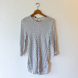 Blusa listrada Zara, tam. G ou M