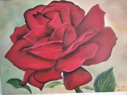 """Quadro decorativo """"rosa vermelha"""""""