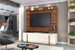 Home Bari com Leds e Rodízios e Suporte de Tv incluso - Entrega Grátis