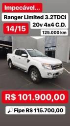 13K ABAIXO DA FIPE - Ranger Limited 3.2TDCi 20v 4x4 C.D - 14/15 - 2015