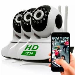 de1c9cbee81a3 Kit 4 Câmeras Ip Wifi Giro 360 Graus Com Sensor de Movimento Atacado