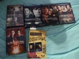 Coleção Dvds Supernatural 1 a 5 temporada