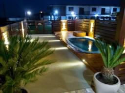 Alugo linda casa com piscina, com 2 dormitórios em Arroio do Sal/RS