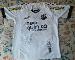 Camisa do Ceará (CE) autografada pelo Michel Guerreiro