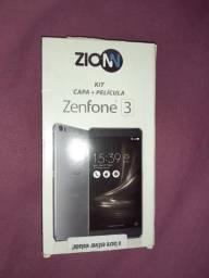 Kit capa + película do Zenfone 3