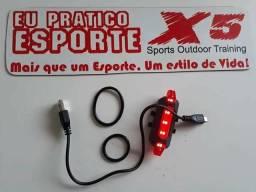 Lanterna Sinalizadora 5 leds recarregável via USB