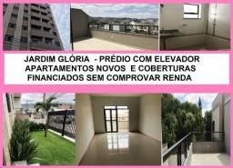 Jardim Glória apartamentos e coberturas novas financiados sem Comprovação de Renda