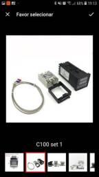 Termostato digital rex-c100 + relé ser 40a + termopar k
