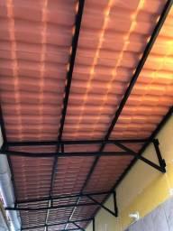 Cobertura de telha pvc