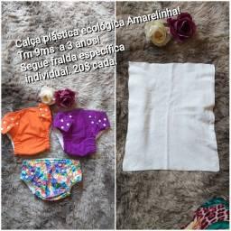 Calça plástica ecológica Amarelinha
