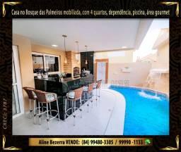 Casa no Bosque das Palmeiras com piscina, mobiliada, sombra