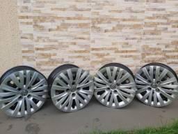 Jogo de roda de ferro aro 15 Original Volkswagen