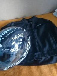 Capacete Norisk e jaqueta hebo com proteção
