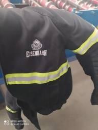 Jaqueta de motoqueiro com sinalizador E protetor