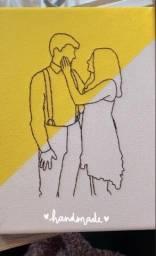Tela Bordada / Dia dos Namorados