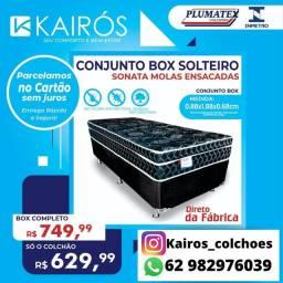 Colchão Plumatex Sonata Spring Black Solteiro 26CM Molas Ensacadas Verticoil <br>