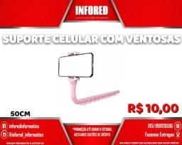 Suporte Celular com Ventosas - R$10,00