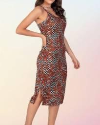 novo - vestido estampado - folhagens
