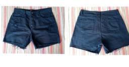 Shorts Jeans azul escuro