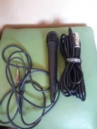 Título do anúncio: Microfone e cabo