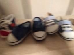 Lotinhos sapatos infantis tamanho 16 e 17