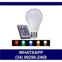 Lâmpada Bulbo Led RGB Colorida c/ Controle * Fazemos Entregas