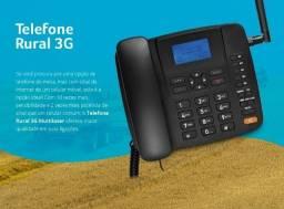 Telefone Rural Celular Fixo 3G De Mesa Quad Band Anatel Todas Operadoras