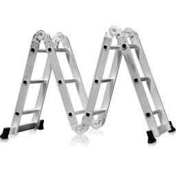 Título do anúncio: Escada Multifuncional 4x3 em Aço e Alumínio 12 Degraus