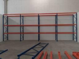 Porta paletes e longarinas de aço estrutural de primeira linha