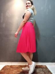 Saia Plissada Pink
