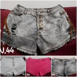 7 Shorts Jeans Tam.44 Usados por R$140,00