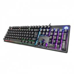 Teclado gamer usb led k500f preto