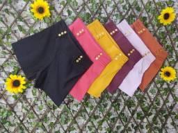 Shorts bengaline, blusas femininas, 15,00 a unidade e apartir de 10 peças 13,00
