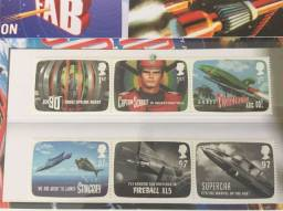 Varias Poste selos da Grã-Bretanha