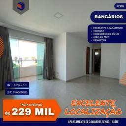 Título do anúncio: Apartamento para Venda em João Pessoa, Bancarios, 3 dormitórios, 1 suíte, 1 banheiro, 1 va