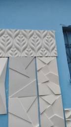 Placas de gesso 3D (Temos gesso cola)