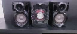 Sistem Panasonic SA-AKX18 completo com Bluetooth/cd/mp3/usb funcionando tudo só R$190