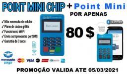 Maquininha de cartão - point mini chip + point mini d150