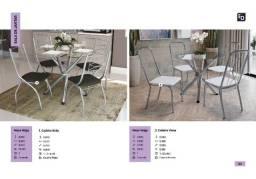 mesa volga com 4  cadeiras zap  *